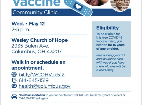 COVID Vaccine Clinics in Far South Columbus