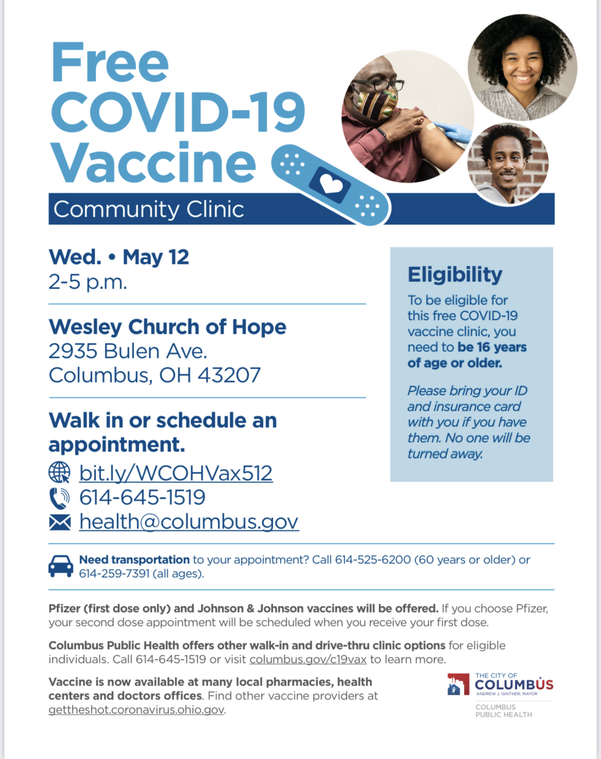 COVID Vaccine Clinics in Far South Columbus
